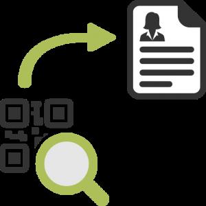 Puoi acquisire i dati fiscali del cliente da anagrafica o con lettura di QR-Code